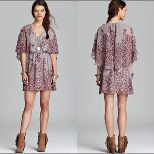 """FREE PEOPLE """"Sparks Fly"""" Cape Dress"""